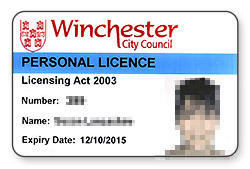 Personal Licence Card