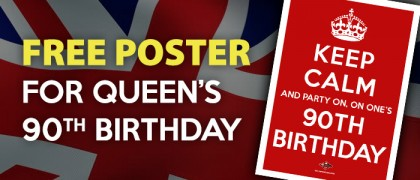 Free Queens 90th Birthday Poster