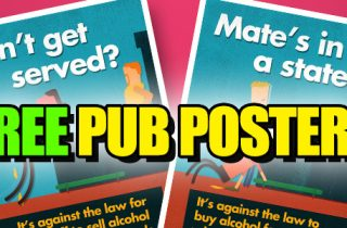 Serving Drunks - Free Pub Posters